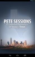 Screenshot of Congressman Pete Sessions