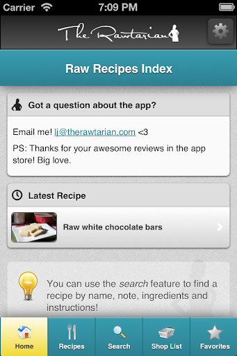 Rawtarians Raw Recipes - screenshot