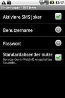 Screenshot of WebSMS: SMSJoker Connector
