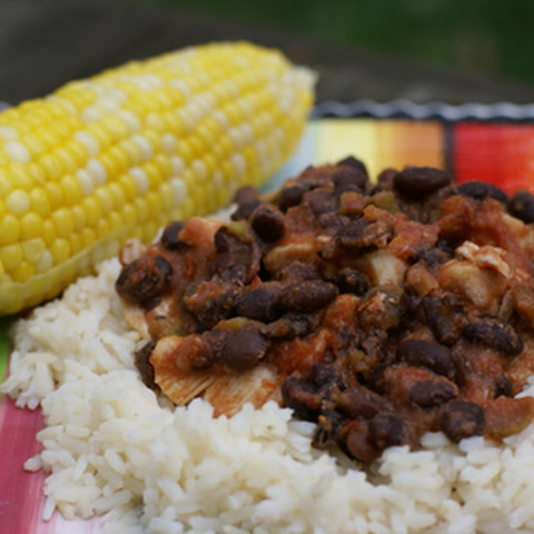 Baked Black Bean and Salsa Chicken