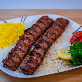 by Victor Martinez - Food & Drink Meats & Cheeses ( chicken, rice, persian, kabob, beef )