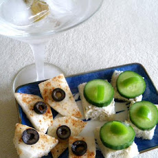 Easy Cucumber Sandwich Appetizer