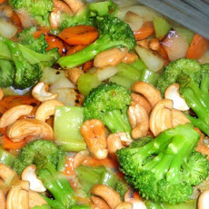 Stir Fry Vegetables With Cashews