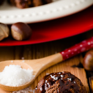 Roasted Chestnut Cookies with Cocoa and Caramel