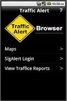 Screenshot of Traffic Alert