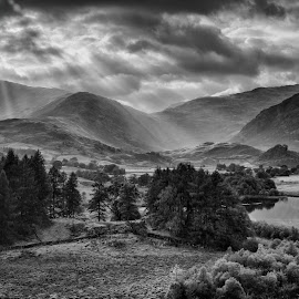 langdale light by Alan Ranger - Landscapes Mountains & Hills ( algenon, photography tuition, cumbria, black and white, photography workshops, little langdale, landscape workshops, lake district, alan ranger, info@alanranger.com, photography classes, landscape photography, photography courses, digital photography lessons, online-mentoring, www.alanranger.com, alan ranger photography, mono, private photography tuition, september )
