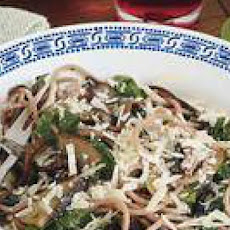 Spiked Spaghetti with Portobellos and Kale
