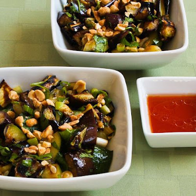 Spicy Grilled Eggplant and Zucchini Salad with Thai Flavors