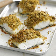 Pesto & Olive-crusted Fish