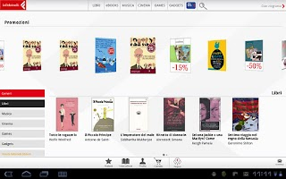 Screenshot of la Feltrinelli mobile