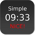 Nice Simple Clock (Widget) icon