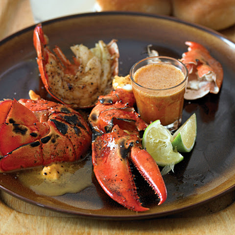 Dr. BBQ's Lobster with Chili-Lime Butter