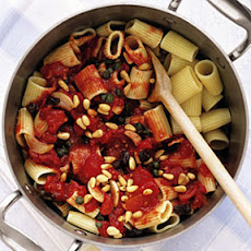 Rigatoni with Tomatoes, Raisins, and Pine Nuts