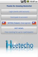 Screenshot of Meetecho