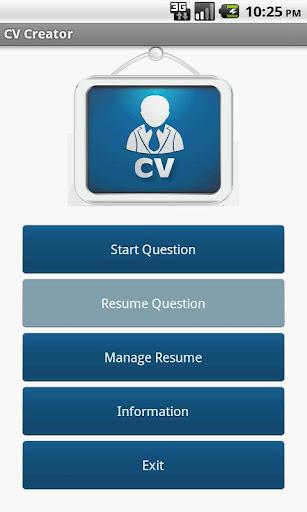 CV Creator aka Resume