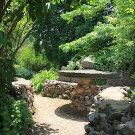 Stone benches by Tammy Jones Perdue - Artistic Objects Other Objects ( benches, stone, natural,  )