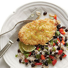 Honey-Lime Chicken with Coconut-Black Bean Rice