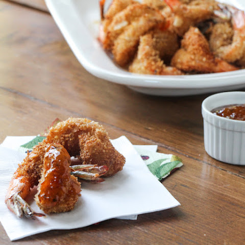 Coconut Prawns with Sweet-Spicy Dipping Sauce – #SundaySupper