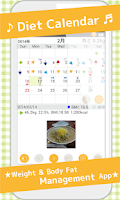 Screenshot of DietCalendar Free(weight)