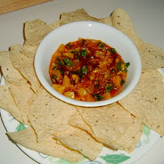 Chipotle Peach Salsa with Cilantro