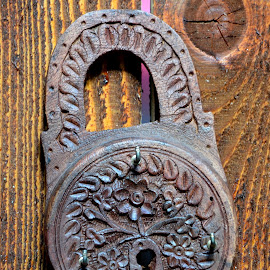 Hand made lock by Iulia Breuer - Artistic Objects Other Objects ( wood,  )