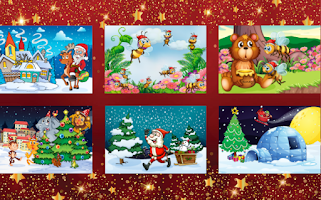 Screenshot of Kids Christmas Scratch & Color