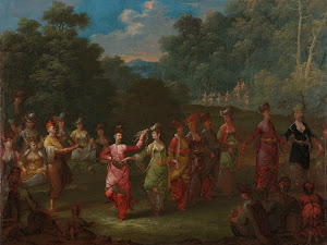 RIJKS: Jean Baptiste Vanmour: Greek Men and Women Dancing the Khorra 1737