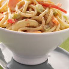 Veggie-Loaded Spicy Peanut Noodles