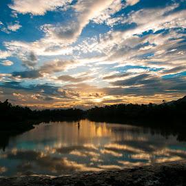 Sunset on Cai river by Đoàn Đoàn - Landscapes Sunsets & Sunrises ( nha trang, khanh hoa, cai river )