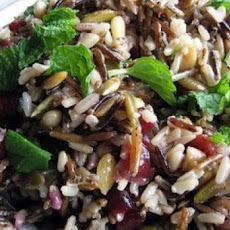 Wild Rice Stuffing with Hazelnuts and Dried Cranberries
