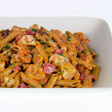 Whole Wheat Penne with Lobster and Bacon
