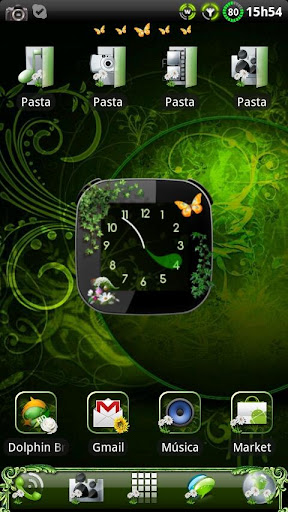 Nature v2 Clock widget
