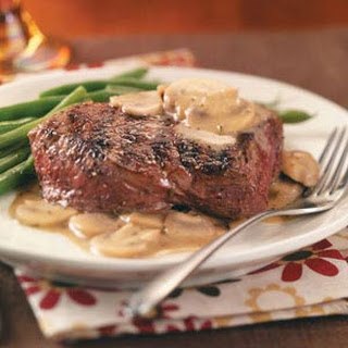 Grilled Steaks with Mushroom Sauce