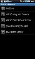 Screenshot of My Android Sensors