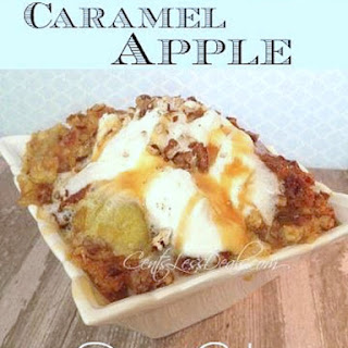 Caramel Apple Dump cake recipe with 4 ingredients!