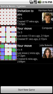 Dots & Boxes Phone-to-Phone - screenshot