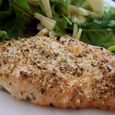 Easy Really Quick Parmesan-Garlic Chicken (Or Fish)