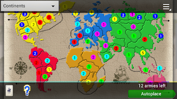 Screenshot of Domination (strategy and risk)