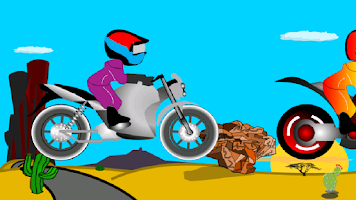 Screenshot of Stunt Bike Racer