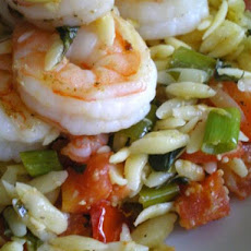 Garlic Shrimp and Orzo Salad