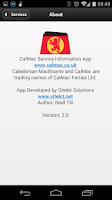Screenshot of CalMac Status