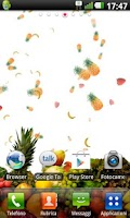 Screenshot of Fruits live wallpaper
