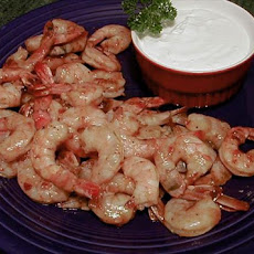 Chipotle-Barbecued Shrimp with Goat Cheese Cream