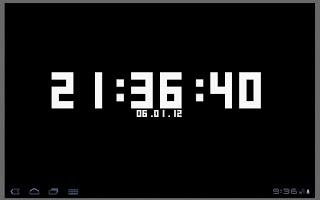 Screenshot of Terminal Clock