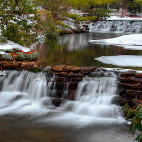 At Hickory Run State Park by Dave Martin - Landscapes Weather ( winter water,  )