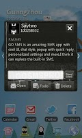Screenshot of GO SMS Pro Theme Thief - KP
