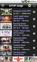 Screenshot of Kpop Search (Youtube)