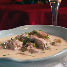 Oyster and Brie Champagne Soup