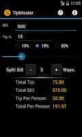 Screenshot of Tip Master Tip Calculator