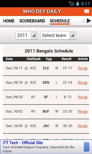 【免費運動App】Bengals by StatSheet-APP點子